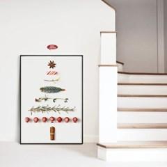 메탈 인테리어 벽트리 포스터 액자 크리스마스 트리 B