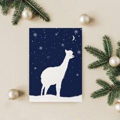크리스마스 겨울 인테리어액자 _ 행복한 라마의 밤