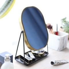 블랙 골드 양면 탁상거울