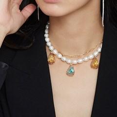 crack cryolite necklace