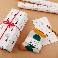 [기성]포장지화이트 크리스마스