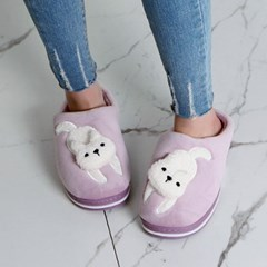 kami et muse White fur doll fur slippers_KM19w184