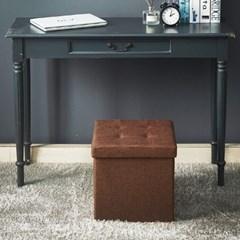 박스터 패브릭 수납 의자 화장대 스툴 중형380