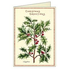 카발리니 카드세트 Christmas Holly (10장)