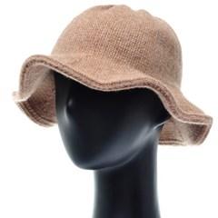 [플릭앤플록]RKU23.튤립 울혼방 니트 여성 벙거지 모자