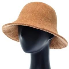 [플릭앤플록]RKU22.큰챙 소프트 기모 여성 벙거지 모자