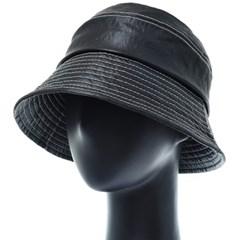 [플릭앤플록]RKU01.인조가죽 스티치 여성 벙거지 모자