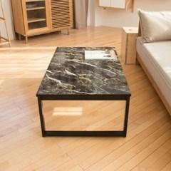 블랙골드마블 스틸 1000 네모 좌식 테이블 /좌탁/소파테이블