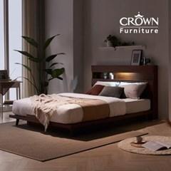 카페에디트 멀바우 LED 조명 침대 SS Q 슈퍼싱글 퀸(매트리스 선택)