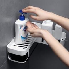 회전형 물 빠짐 욕실 주방 수납 선반 2type