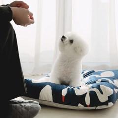 클라우드다운 클린극세사 강아지 마약방석(솜포함)