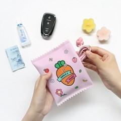 핑크풋 당근 봉지 파우치