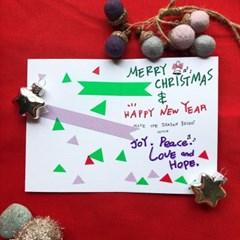 골드 산타 크리스마스 카드