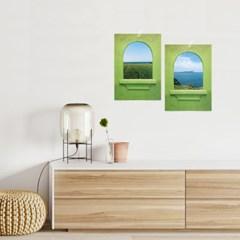 감성 포스터 힐링 창문 풍경 포스터 그림 액자 8type