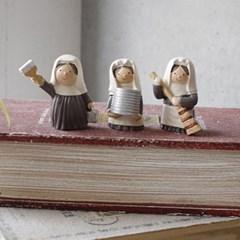봉사 수녀인형 3종 set_(1813076)