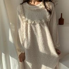 뽀글이 극세사 양털 파자마 원피스잠옷