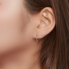14k 씬 파이프 귀걸이