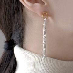 (92.5 silver) unbalance pearl earring