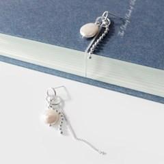 (92.5 silver) unique pearl drop earring