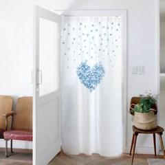 거실 커텐 화장실 140x200cm 블루하트