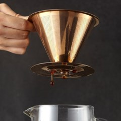 [빈플러스] 티타늄코트 스텐 커피 드리퍼 TD03
