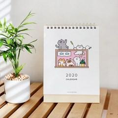 [버숨] 2020 고양이 일러스트 캘린더