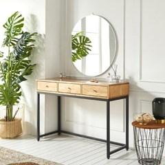 가구데코 라벨르 원목 화장대+거울 세트 NA0187