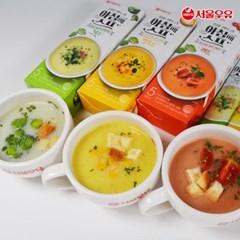 [서울우유] 아침에스프 75스틱(그린25+옐로우25+레드25+스프컵)
