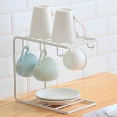 미니멀 스틸 컵걸이 건조대 1개(색상랜덤)