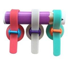 다용도 흡착판 밴딩홀더 3개 1세트(색상랜덤)