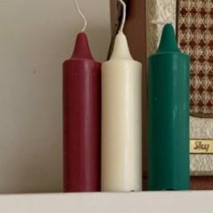 Christmas Color Candle (3개 1세트)
