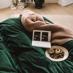 윈터 극세사 자카드 겨울 침구세트(그린)