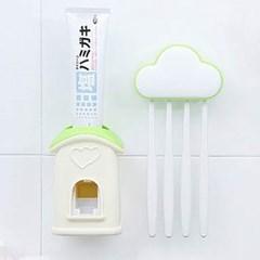 구름 치약 칫솔 디스펜서 세트 1개(색상랜덤)