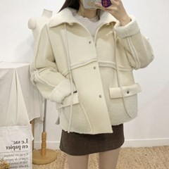 마쉬옐로우 파로블 양면 양털 무스탕 자켓 2colors