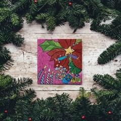 캘리엠 축복의 선물1 XKSO 캘리그라피 크리스마스카드