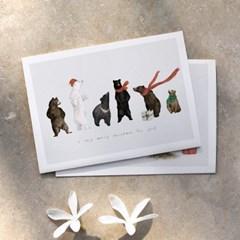 크리스마스 트리 겨울 인테리어액자 _ 이곰 저곰