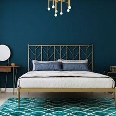 아파트32 홈 골드 철제 리브 침대 프레임/ 슈퍼싱글 퀸 라지킹