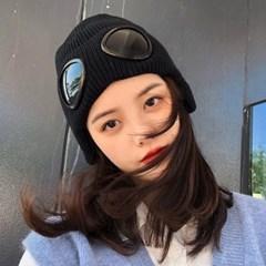 메이즈 겨울 고글 니트 비니_(2301849)