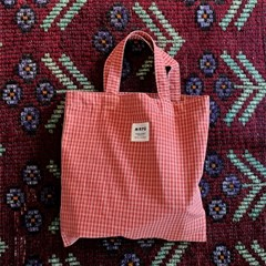 CHECK MINI BAG(RED PINK)