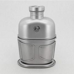 아베나키 티타늄 수통+반합세트(수통1100ml+반합700ml+슬링백)