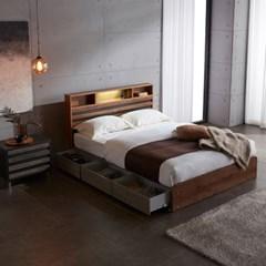 홈잡스 LED 조명 콘센트 수납형 서랍형 평상 침대