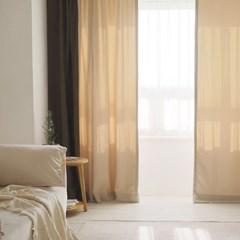 호텔식 캐슬 투톤 암막커튼 작은창 아일렛형 6colors_(1283399)