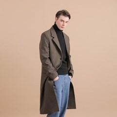 [THE MASTER] 남성 하운즈투스 체크 브라운 싱글 코트
