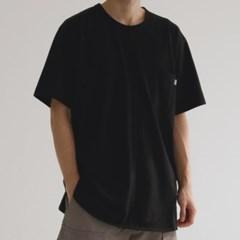 언발 넥 라운드 반팔 티셔츠 3color