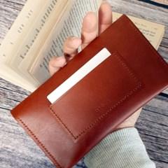 브라운 심플 장지갑[여권지갑]