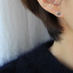 마카사이트 드로잉 하트 귀걸이
