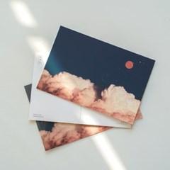 1월 달 구름 엽서