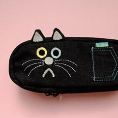 [GLADEE] 그라디 검은 고양이 필통