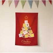 크리스마스 벽트리 패브릭포스터 주문제작 결혼 집들이 선물