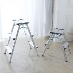 정리인홈 접이식 알루미늄 사다리 일반형 광폭형 2단,3단